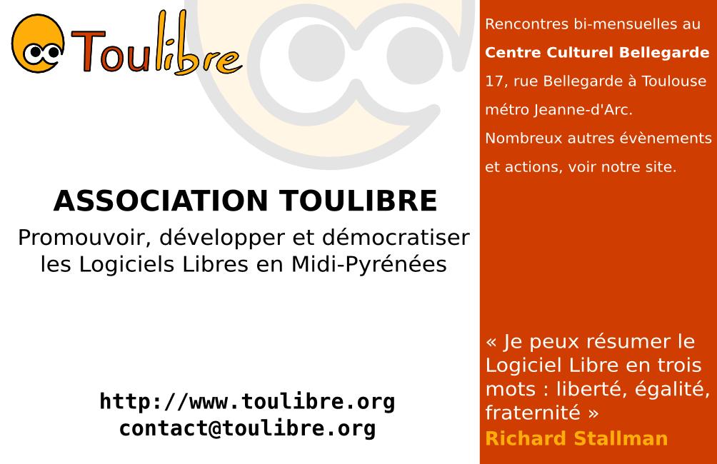 Toulibreorg Pub Association Carte Visite Toulibre Verso